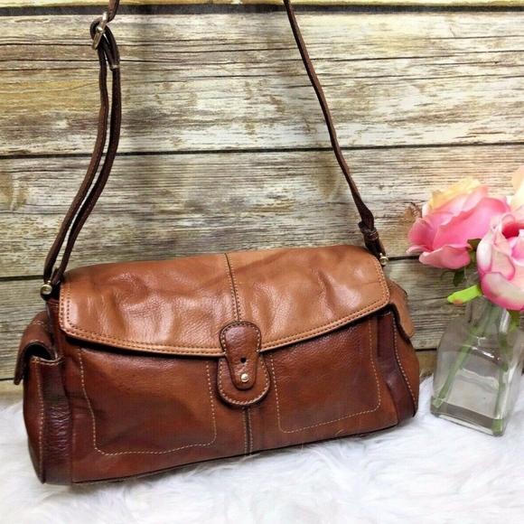 Liz Claiborne Handbags - Liz Claiborne Brown Leather Purse Shoulder Bag